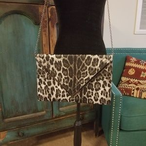 Handbags - New 3am Forever Faux Snow Leopard Large Crossbody